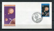 Djibouti 1993 Mi. 586 Espace Jupiter satellite vaisseau spatial FDC Premier Jour