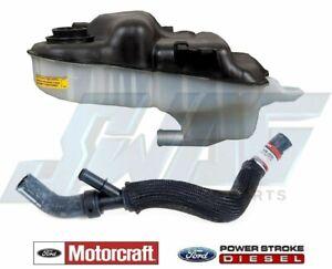05-07 Ford 6.0 6.0L Powerstroke Diesel Overflow Tank / Degas Bottle & Hose w/ Y