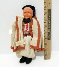 VINTAGE SERBIAN BOY DOLL - DETAILED HANDMADE CLOTHING BISQUE HEAD
