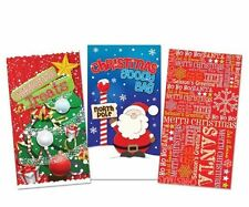 12 Xmas Paper Party Loot Favour Bag Treat Goody Party Gift Toy Popcorn Cello Fun