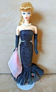 """Vintage Mattel Barbie Doll """"Solo in the Spotlight"""" Reproduction Blonde w/ Stand"""