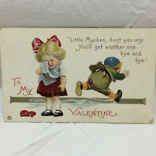 Vintage Valentine Postcard To My Valentine Stecher Litho Co New York