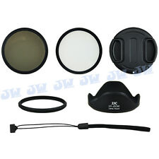 6 in 1 58MM UV CPL Filters+Lens Adapter+Hood+Cap+Keeper for CANON SX60 HS Camera