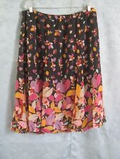 Jaclyn Smith Floral on Black Skirt Size XL Lined