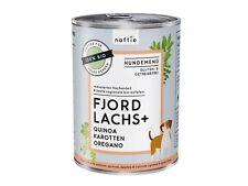 naftie Bio  Fjord Lachs+ Hundefutter Nassfutter Menü, 12x400g Sparpaket