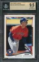 2014 topps update #us10a GEORGE SPRINGER houston astros rookie card BGS 9.5
