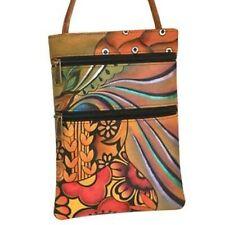 ANUSCHKA Hand Painted Genuine Leather Sm Travel Companion Bag - Patchwork Garden