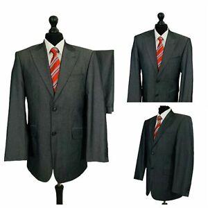Mens Suit 38R 34W 29L Grey 2 Piece Smart Formal Business Wedding  P115
