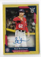 2018 Topps Big League baseball Gold Autograph Parallel Sean Doolittle 05/99