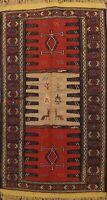 Tribal Traditional Sumak Kilim Geometric Oriental Area Rug Flat-woven WOOL 3'x6'