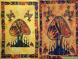 2 piece Mushroom Tapestry Bohomen Indian Wall Hanging Wholesale (77cmX102cm)YO-1