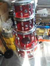RARE Hoshino Acrylic Drum Set 60s-70s Red Rot !!!!! Shell Set Komplett !!!!