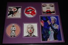 Christina Aguilera Signed Framed 16x20 Photo & Bionic CD Display JSA