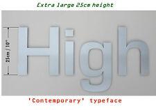 Extra Large 25cm 'Contemporanea' Acciaio Inox Lettere - Qualsiasi Combinazione