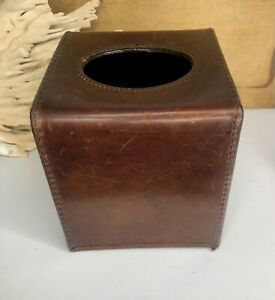 RARE Mulholland Brothers Leather Tissue Box Cover