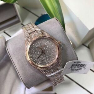 Michael Kors Lauryn Rose Gold Stainless Steel Crystal Quartz Womens Watch MK3931