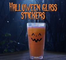 Halloween Glass Sticker - Pumpkin - Self Adhesive Vinyl Stickers Asst pack of 24