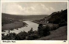 Rothenfels am Main Baviera sotto Franchi S/W AK ~ 1933/39 fiume Panorama ungelaufen
