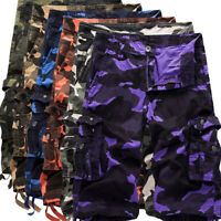 Men's Army Camouflage Casual Pockets Short Pants Camo Military Summer Shorts