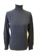 Woolrich Women's Long Sleeve Turtleneck Sweater Wool Blend Blue Small