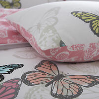 New Butterfly Modern Duvet & Pillowcase Bedding Set Single Double King SuperKing
