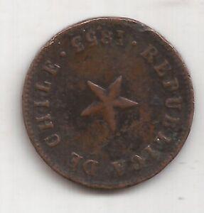 CHILE ANTIGUA MONEDA 1/2 CENTAVO AÑO 1853