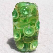 TOMATILLO Handmade Art Glass Focal Bead Flaming Fools Lampwork Art Glass SRA