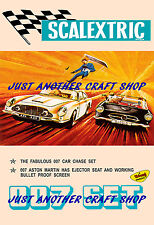 Scalextric 1968 James Bond A3 Poster Aston Martin & Mercedes Advert Leaflet Sign
