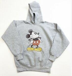 Disney Mickey Mouse Hoodie Youth XL Gray