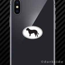 (2x) Curly Coated Retriever Euro Oval Cell Phone Sticker Mobile dog canine pet