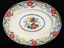"Vintage Enoch Wood Danbury Pattern Blue Transfer Floral Serving Platter 10"""