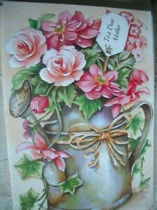To a Dear MUM Wishing You a Very Happy Birthday (Watering Can with Flowers) Card