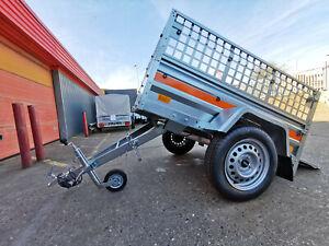 Car Trailer Farm Trailer Small 147cm x 106cm 750 kg Caged Sides
