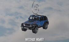 Blue Jeep Wrangler Mountain Edition Christmas Ornament 1/64 Open Top '10, '11 XJ