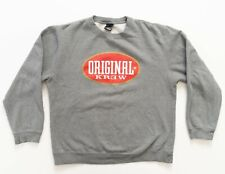 KREW Sweatshirt Men Size Large Crewneck Sweater Gray Original KREW Graphic