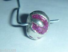 European Bead PURPLE SPARKLY SWIRLS Crystals Charm Bead AUS Seller