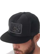 d8df8f7021a7b LUCKY 13 Skull Stars Patch Black Flat Bill Mesh Foam Trucker Snapback Hat  NEW