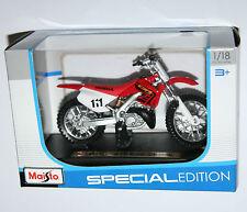 MAISTO-Honda CR250R moto-modèle échelle 1:18