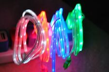 LIGHT UP LED el Glow USB Charger Data Cable Cord for iPhone 7 6s 5s 5c Plus 8 X