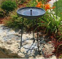 Outdoor Solar Bowl Patio Bird Bath Dish Birdbath Lawn Yard Eco Friendly NEW