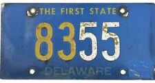 *99 Cent Sale* 1962 Base Delaware License Plate #8355 Four Digit Riveted Nr