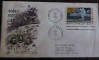 1969 FIRST MAN ON THE MOON First Day of Issue .10 STAMPED ENVELOPE Postmarked