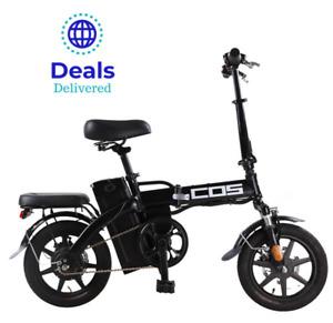 """COS Electric Bike E-Bike ⭐ Folding ⭐ 30kmh ⭐ 350W ⭐ 48V ⭐14"""" Wheels⭐12M Warranty"""