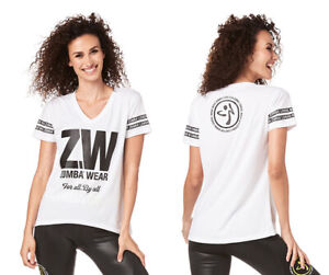 Zumba For All By All Top - White - Small, XL, XXL ~ Free Ship! New!