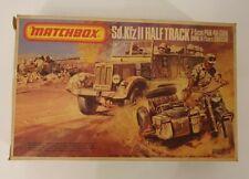 MATCHBOX Sd.Kfz II HALF TRACK 7.5cm PAK-40 GUN, BMW R-75 SIDECAR MODEL KIT 1/76