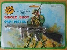 Vintage Antique Machine Shooting Die-Cast Scale Model Loud Cap Gun Hong Kong Nos