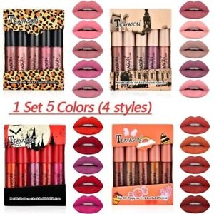 5PCS/Set Long Lasting Lip Gloss Glazed Matte Beauty Liquid Lipstick Lip Make-yut