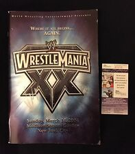 VINCE MCMAHON SIGNED WWE WRESTLEMANIA XX EVENT PROGRAM JSA AUTHENTICATED