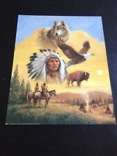 "Chief Native American Collage 16 x 20"" Picture Print in Lithograph"