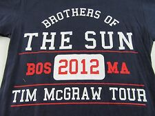 "TIM McGRAW Tour ""Brothers of The Sun"" Boston Ma. 2012 T Shirt Size S (NWOT)"